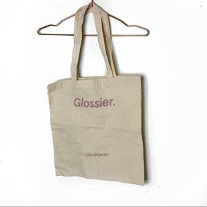 NWOT Glossier. Los Angeles Canvas Tote Bag